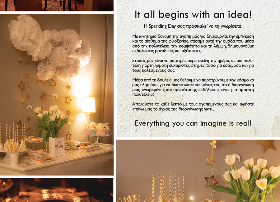 IT ALL BEGINS WITH AN IDEA Sparkling Day